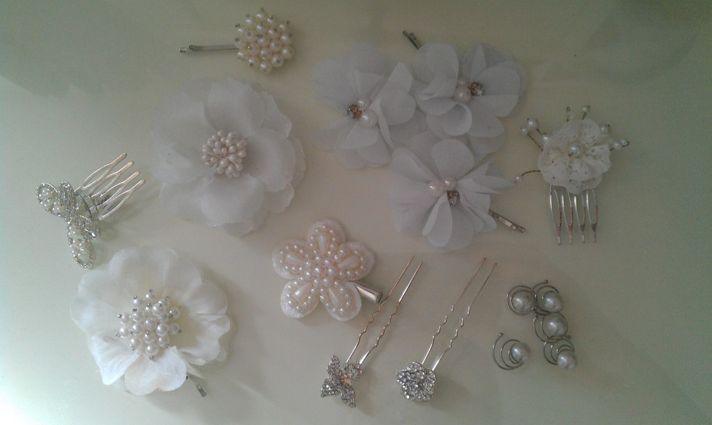 Wedding jewellery hair slides ideas