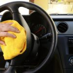 Wiping car steering wheel