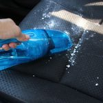 Baking soda on car seat