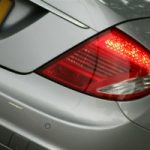 Brake light on car