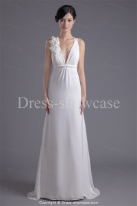 Elegant white evening gown