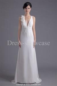 Elegant white evening gown