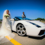 Wedding transport lambo