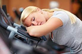 Asleep on treadmill
