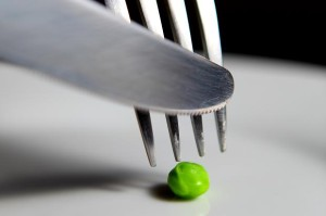 Pea on plate