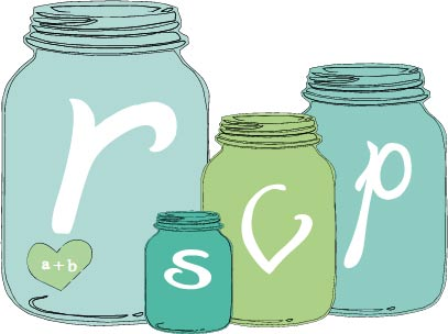 Mason jar wedding stationary