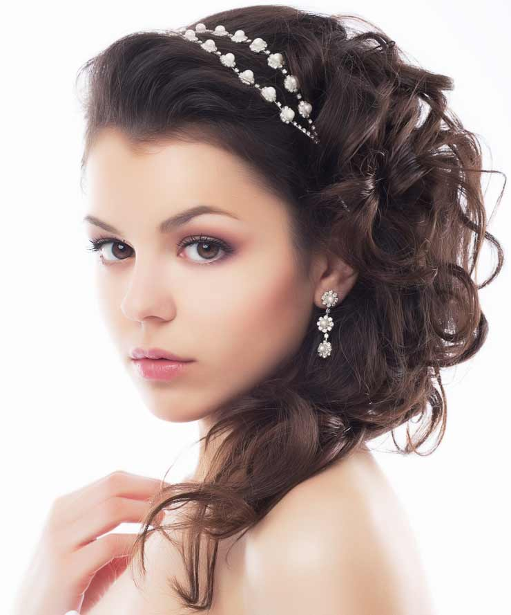 Wedding hair up with headband