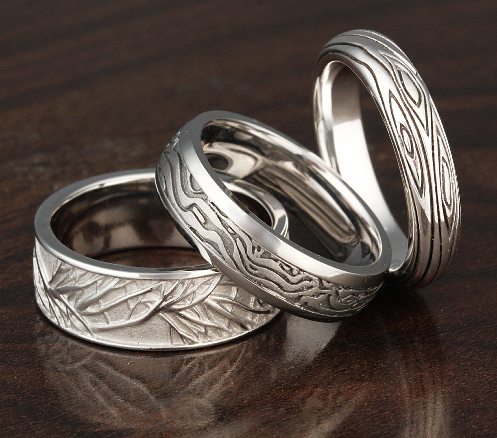 Tree wedding ring bands