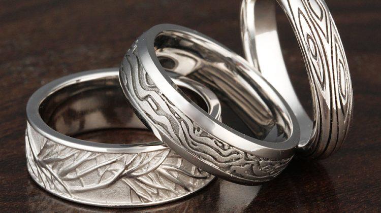 Tree wedding ring bands