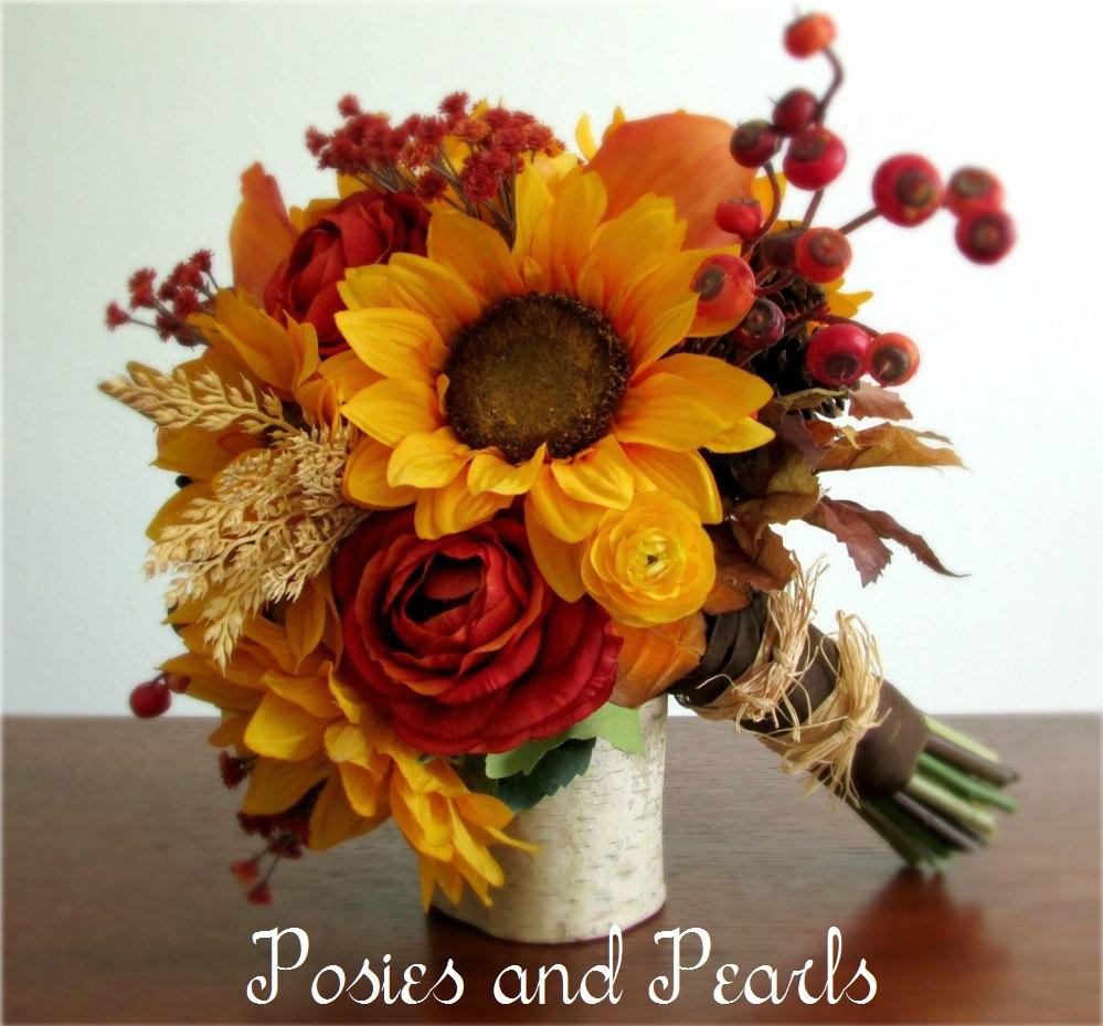 Sunflowers fall flower bouquet