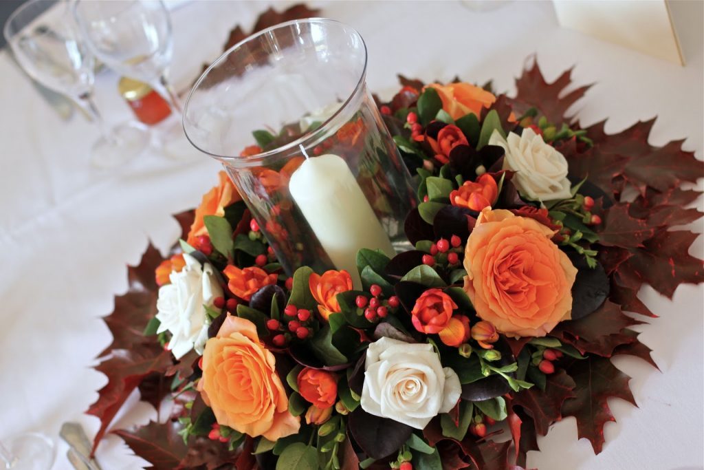 Stunning fall flowers centerpiece