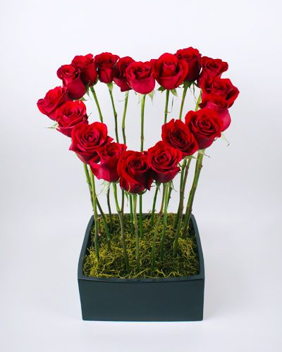 Heart of red roses for Valentine's