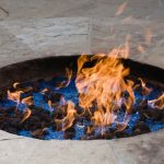 Fire pit in ground