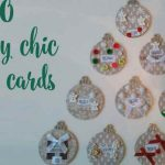 Shabby chic Christmas place holders