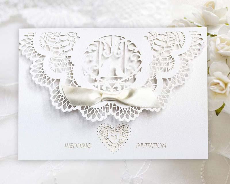 Wedding invitation - cut out