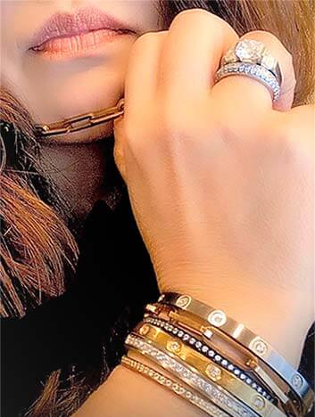 Stacked bangles