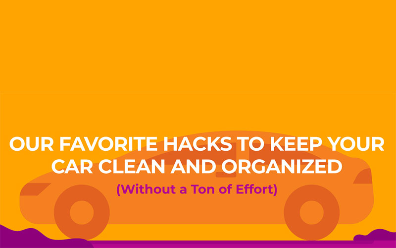 Our favourite hacks to keep your car clean and organised